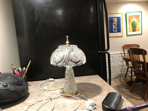 Crystal antique lamp for Sale in Jamison, PA