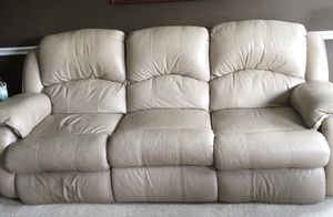 Leather couch , 2 recline for Sale in Nashville, TN