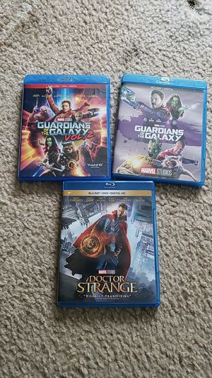 Marvel bluray blu ray mcu doctor strange guardians of the galaxy movies for Sale in MERRIONETT PK, IL