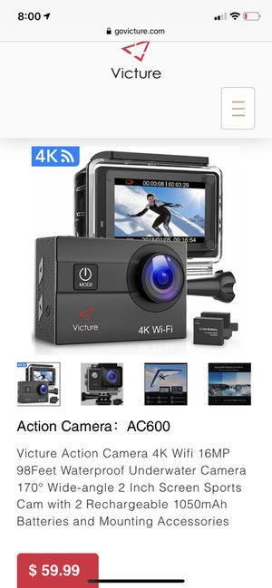 Action Camera:AC600 for Sale in Orlando, FL