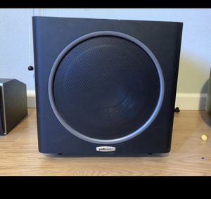 "Polk Audio PSW111 subwoofer -8"" Black with CS1 Center Channel for Sale in Hillsboro, OR"