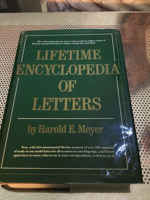 Lifetime Encyclopedia Of Letters by Harold E. Meyer. Hardcover. Large book. for Sale in Las Vegas, NV
