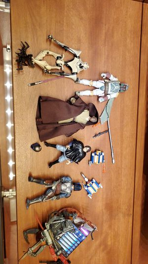 Star wars action figures 3.75 lot jango boba jedi for Sale in Los Angeles, CA