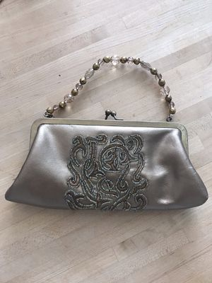 Gold Leather beaded purse for Sale in Delray Beach, FL