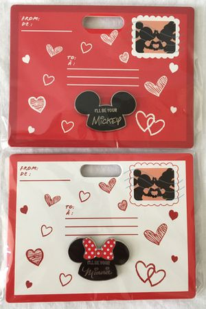 disney store I'll be your MICKEY & MINNIE MOUSE valentine's day pin set for Sale in Irvine, CA