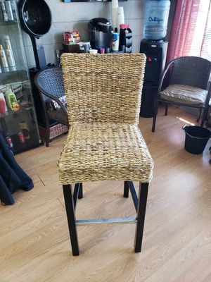 Tall wicker chair for Sale in Portland, OR