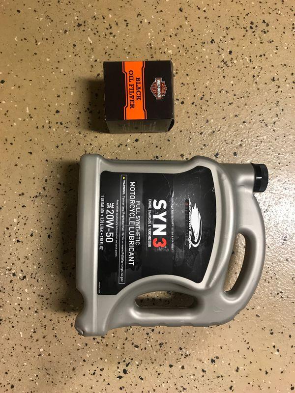 Harley Davidson 1 Gallon (3.78 Liter) SYN 3 Oil Change Kit for Sportster