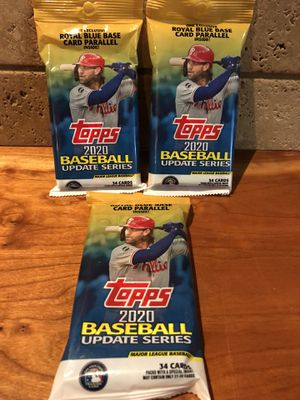 Topps 2020 MLB Update Series Packs for Sale in Jamul, CA