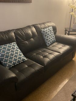 Couch And Chair Faux Leather for Sale in Salem,  MA