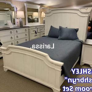 ✅SAME DAY FREE DELIVERY🚚Brand New Whitewash Panel 4 Piece Bedroom Set-{ Queen,King }-Bed Frame, Dresser, Mirror and Night stand included.📣 for Sale in Houston, TX