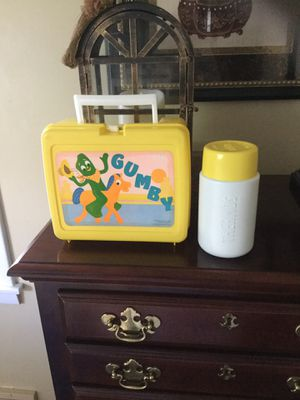 Vintage and excellent Gumby lunch box and matching thermos for Sale in Niagara Falls, NY