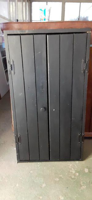 Black Wooden Cupboard for Sale in Warner Robins, GA