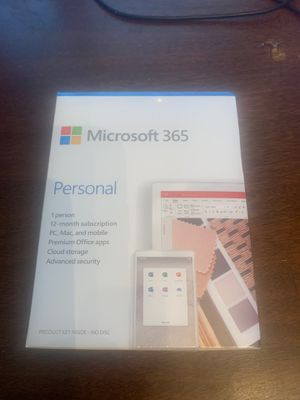 Microsoft 365 Personal 1 year subscription for Sale in Greenwich Township, NJ