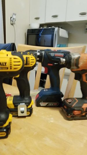 Dewalt impact and drill driver, Rigid impact and Bosch drill driver for Sale in Cleveland, OH