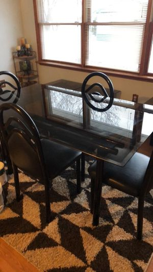 Dining dining room table coffee table 2 end tables and four chairs for Sale in Murphysboro, IL