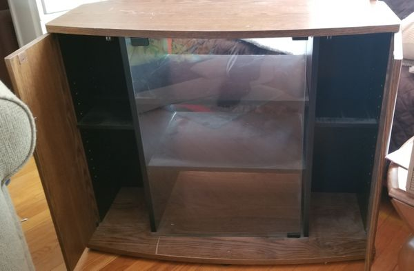 TV Stand with 3 shelves and 2 side compartments