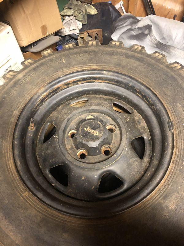 """4 15"""" Jeep steel wheels"""