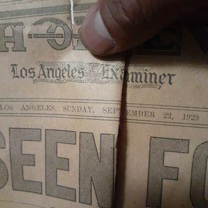 LOS ÁNGELES SUNDAY SEPTEMBER 22 1929 .. for Sale in Los Angeles, CA