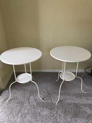 2 IKEA LINDVED White End Tables for Sale in Eleva, WI