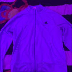 Adidas Jacket LG (light Blue/ black stripes) for Sale in Gaithersburg,  MD