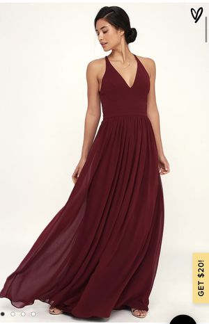 Lulus Burgundy Lace-Back Maxi/Prom Dress for Sale in Chandler, AZ
