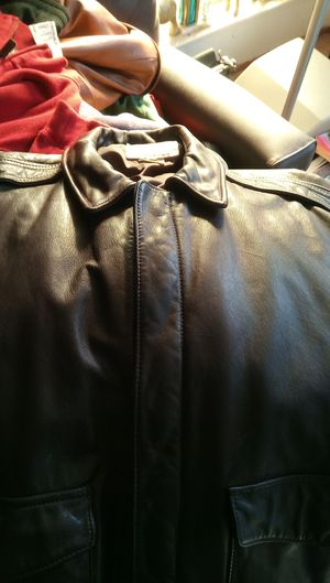 Golden Bear leather jacket famous brand size 42 for Sale in Santa Clara, CA