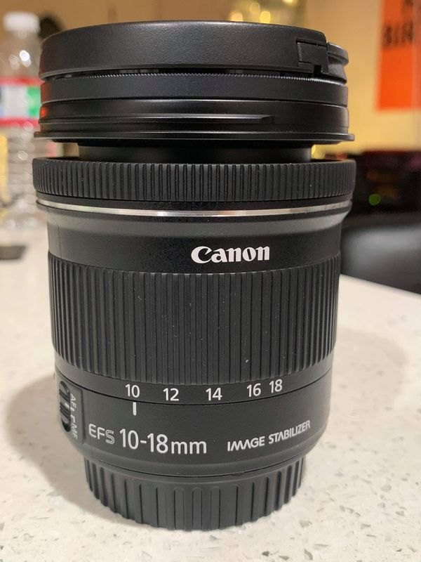 Canon EF-S 10-18mm f/4.5-5.6 wide lens.