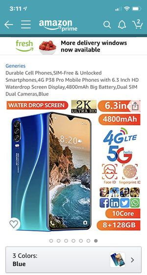 P38 Pro smart phone with 16 gb sd card brand new for Sale in Portland, OR