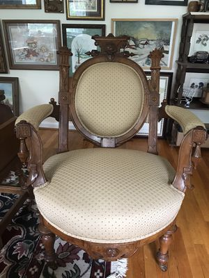 Antique Armchair with Trumpet Legs for Sale in Blue Bell, PA