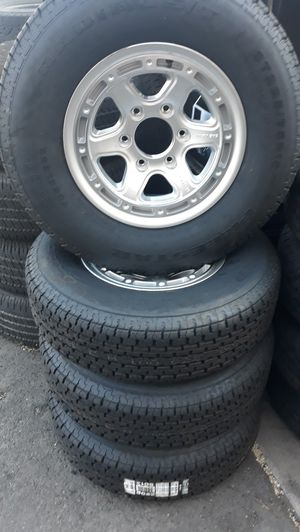 6 lugs wheels & tires trailer $550 for Sale in Escondido, CA