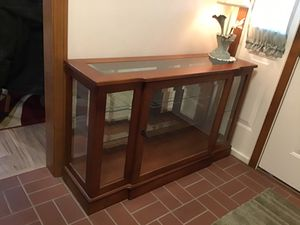 Curio floor cabinet ,beveled glass for Sale in Girard, PA