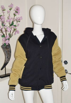 (FREE DELIVERY) unisex black/yellow hoodie jacket (size L) for Sale in North Las Vegas, NV