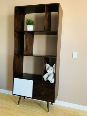 Walnut Bookshelf with Warranty. Mid-Century style solid wood Bookcase. for Sale in Needham, MA