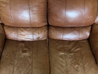 Brown Genuine Leather Couch for Sale in League City,  TX