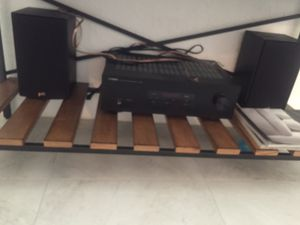 Yamaha stereo receiver with two Polk Book Shelf Speakers for Sale in Miami Springs, FL
