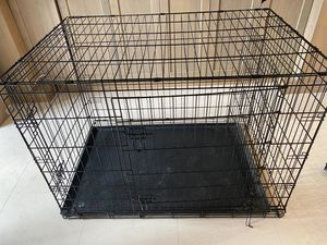 DOG CAGE XXL 54x36x45 Inches 2 Doors Pet Cage Dog Kennel Crate Foldable Portable Fold and Store Away 200 lbs for Sale in Beverly Hills, CA