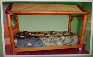 Twin Bedroom Set 'log' look for Sale in Odenton, MD