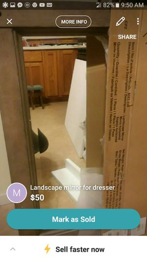 Landscape mirror for dresser for Sale in St. Louis, MO