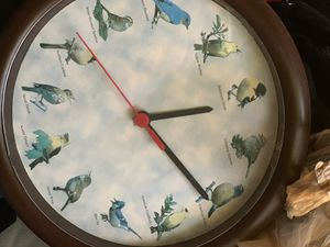 Beautiful clock they all work great condition songs of birds for Sale in Houston, TX