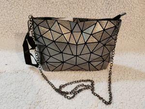 Women Handbags Geometric Luminous Bag PU Leather Shard Lattice Holographic Purse Ladies Shoulder Bag for Sale in North Miami, FL