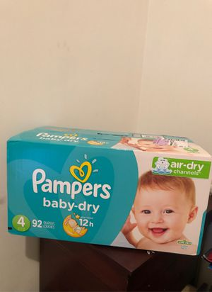 Pampers, baby-dry , size 4 for Sale in The Bronx, NY