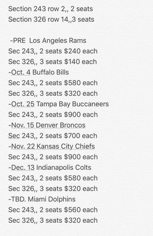 Raider tickets for Sale in Las Vegas, NV