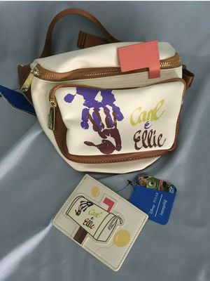 Loungefly Disney Pixar Up Fanny Pack & Card Holder Carl & Ellie Hand Prints New for Sale in Los Angeles, CA