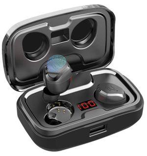 True Wireless Earbuds, AIKELA Bluetooth 5.0 Earphones 140H Playtime Built-in Mic IPX7 Waterproof Sport iPhone Android for Sale in Monterey Park, CA