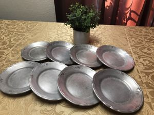 8 Antique pewter plates for Sale in Los Angeles, CA