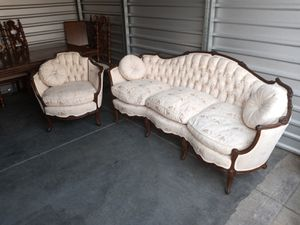 Antique Davenport Sofa & Chair in Pristine Condition appraised at $6,400 for the set ONLY $2,800 for Sale in Sacramento, CA
