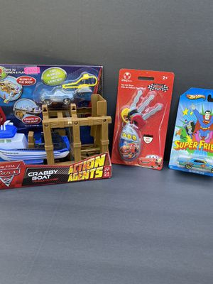 3 PACKAGES 2010 DISNEY PIXAR CARS,DISNEY STORE ,SUPERMAN HOTWHEEL!! for Sale in Concord, CA