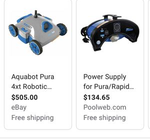 Robotic pool cleaner with power control supply (above and in-ground pools) for Sale in Aurora, IL