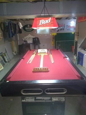 Seven and a half foot pool table three-piece slate for Sale in East Providence, RI