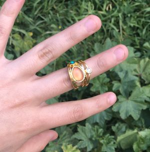 Gold plated moonstone ring for Sale in Chula Vista, CA